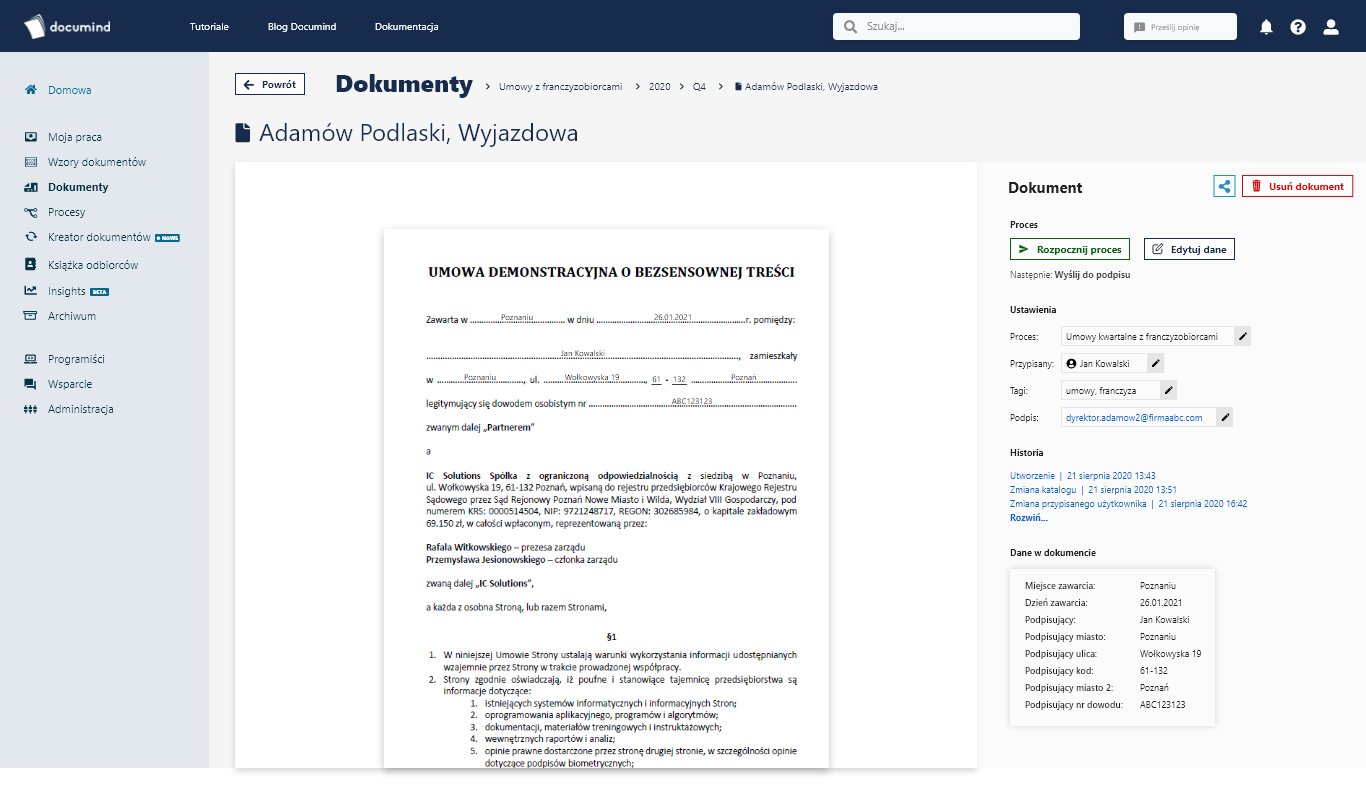 Documind - platforma do zarządzania dokumentami workflow